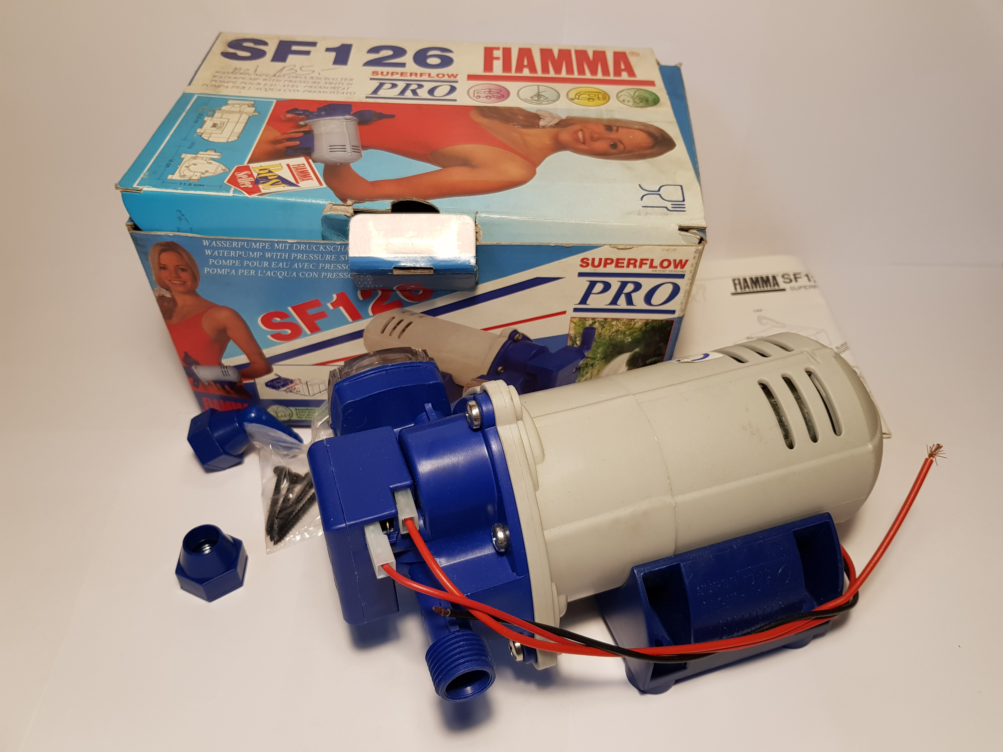Fiamma SF126 Wasserpumpe mit Druckschalter Superflow Pro Water Pump Press Switch