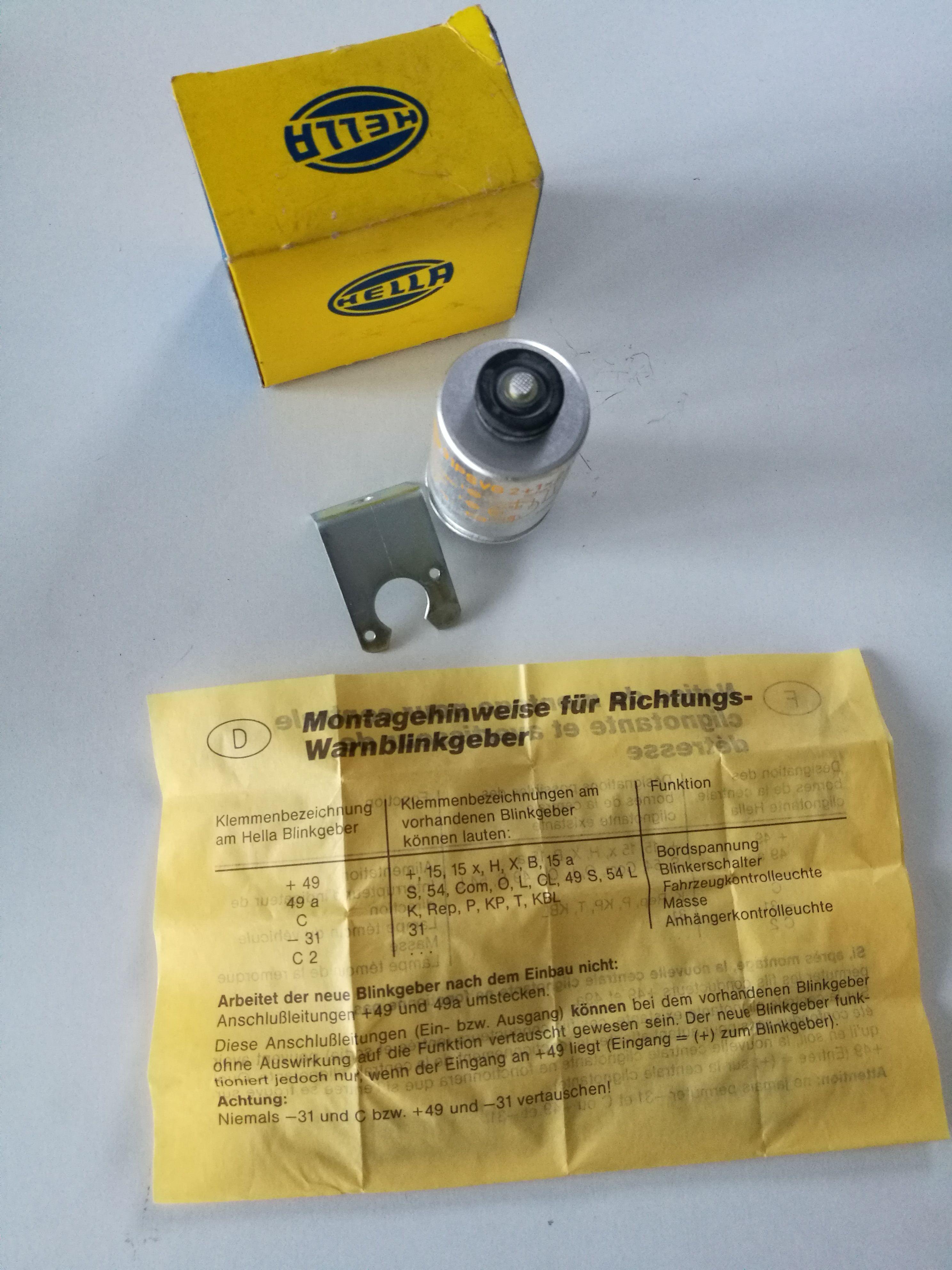 HELLA Blinkgeber  4NM001803081 91PSVG 2+1x21W 24V  avertissement clignotant