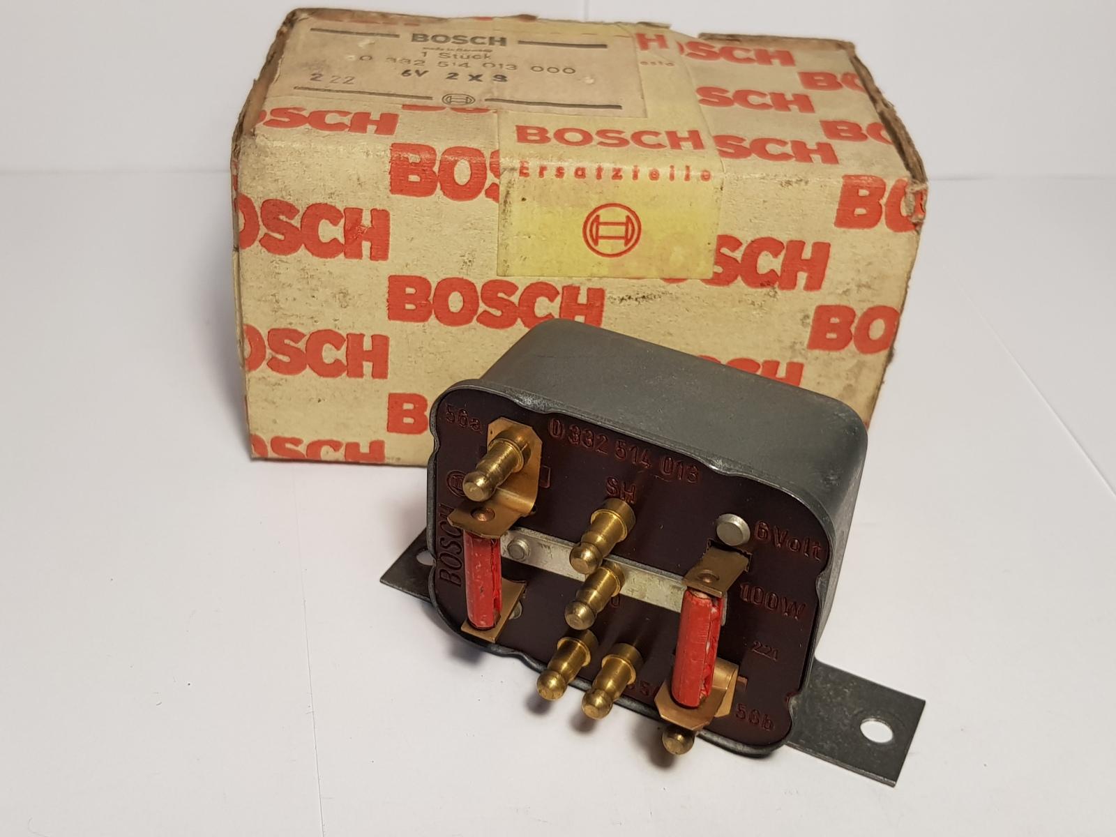 Bosch 0332514013 Fernlicht Abblendrelais Dipped Headlights Relais Relé Relay 6V