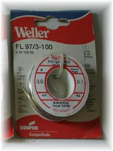 Weller Fittingslot Nr.3  FL 97/3-100 Lötdraht 100 g (54,60 ?/kg) Ø3mm