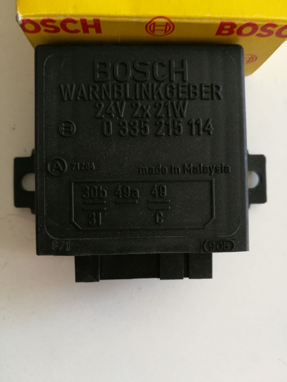 Bosch 0335215114 Blinkgeber Blinkrelais flasher avertissement clignotant