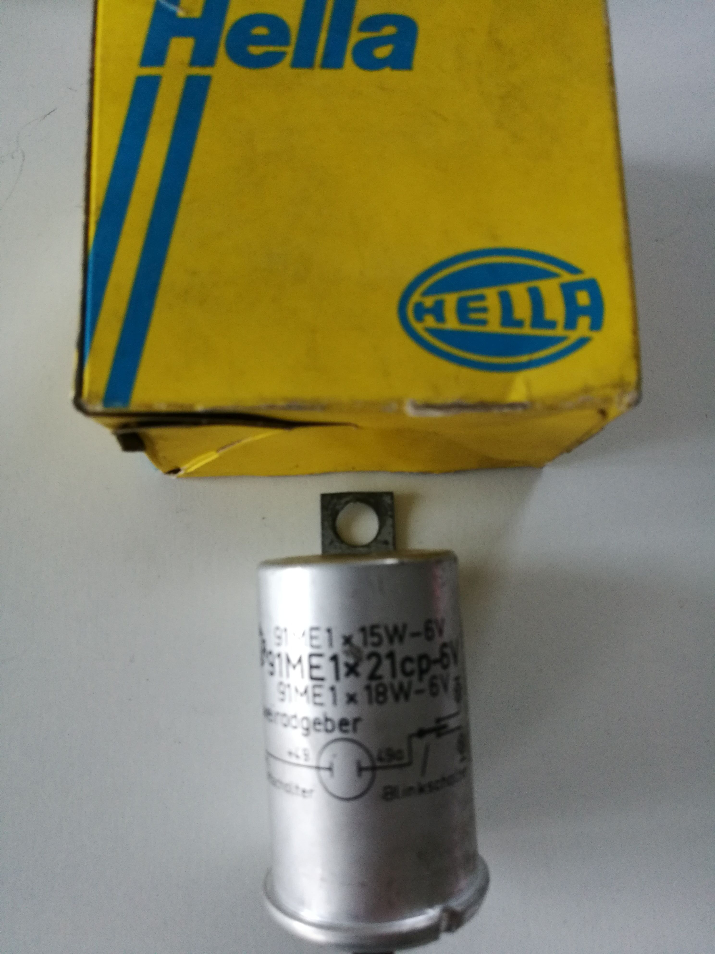 HELLA 4NM001820021 Blinkgeber 91ME 1x15W 18 6V  avertissement clignotant